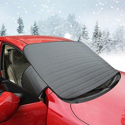 Protection antigel Couverture pare-brise Voiture les Neige glace garde de givre et coupe-vent en toute saison soleil