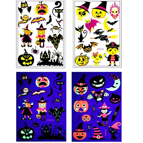 IDOXE 4 Sheets Halloween Temporary Tattoos Scar Bloody Sticker for Party Cosplay Costume- High Value -