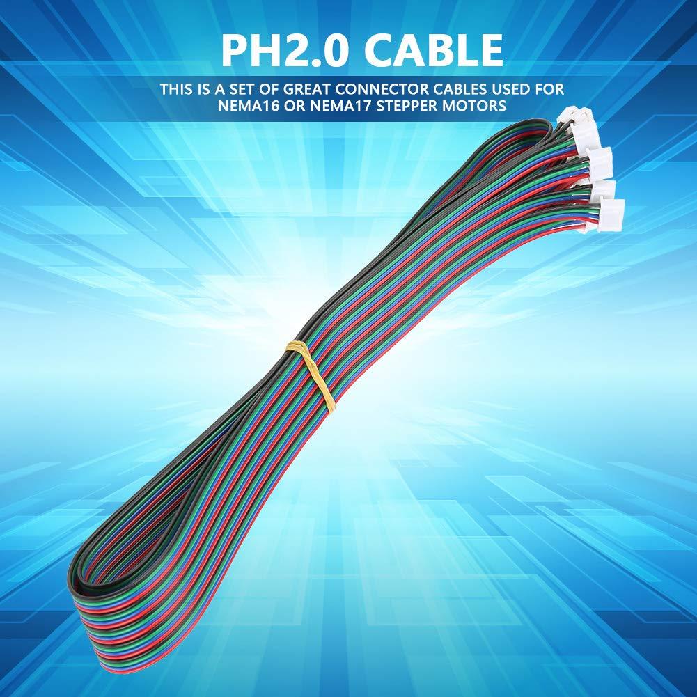 5Pz PH2,0-XH2,54 Cavo Terminale Connettore Femmina e Femmina per il Motore Stepper Nema16 Nema17