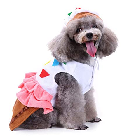 NYJ Ropa para Perros de Navidad, Regalo Gato Perro Payaso Vestir Vestir Traje Chaqueta de