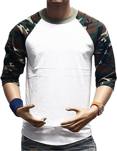 SBOYS Camiseta de béisbol para Hombre, Estilo Informal, Ajuste Regular Raglan, Manga 3/4, Camisetas Henley Baseball T Shirt 15 Small: Amazon.es: Ropa y accesorios