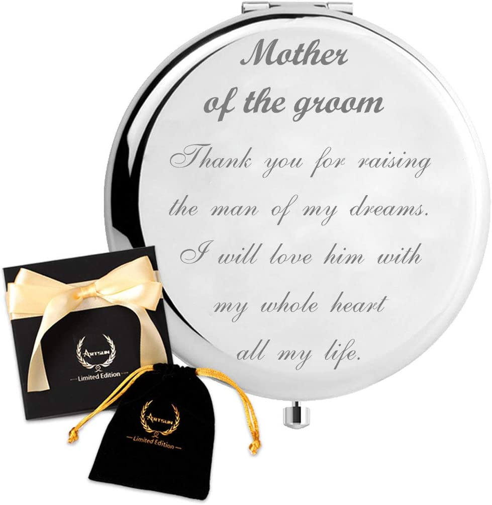 ARTSUN Mother of The Groom Gifts from Bride, Mother in Law Gifts from Daughter in Law,Wedding Keepsake Unique Engraved Gift Present (Mother of The Groom)