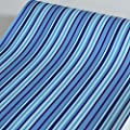 SimpleLife4U Mediterranean Blue Stripes Shelf Liner Removable Dresser Drawer Sticker Self-Adhesive Contact Paper 17.7 Inch By 9.8 Feet