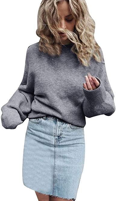 Pull Femme Mini robe Top Femmes Pull-over Col Bateau Pull Taille 6 8 10 12 14