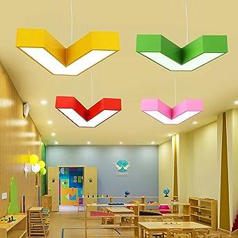 Kronleuchter Einfache Büro Decke führte kreative Farbe flache ...