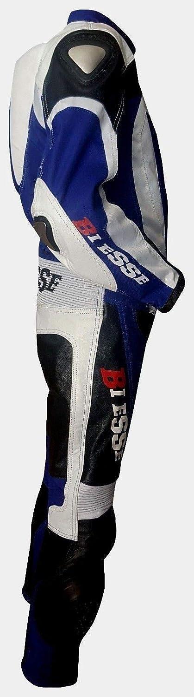 Arancio//Nero Combinaison de moto pour enfant en cuir et tissu avec protections CE XS BIESSE 5 anni