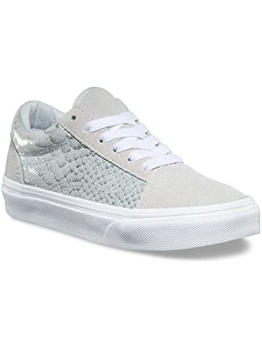 a67d01a80c Amazon.com  Vans Old Skool Metallic Snake Silver White Kids Shoes 3  Shoes