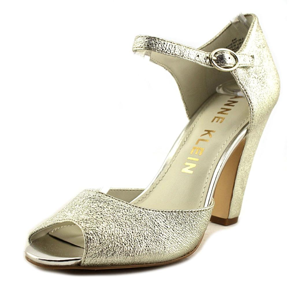 Anne Klein Women's Henrika Fabric Dress Pump B01MYQWZKM 8 B(M) US|Light Gold Leather