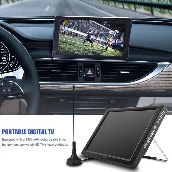 11,6 Pulgadas TV portátil, LED pequeña Televisión con TDT DVB-T/T2 ...