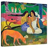 Paul Gauguin 'Arearea (The Red Dog)' gallery-wrapped canvas is a high-quality canvas print that captures Gauguin's style while working in Tahiti. It features an absence of relief, a primitive design and intense colors. Eugene Henri Paul Gauguin was r...