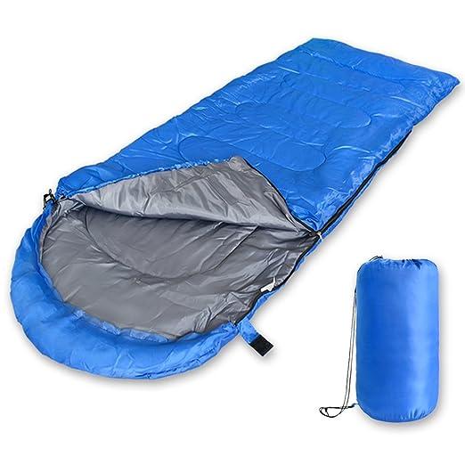 2win2buy Saco de Dormir para 3 Estaciones, Impermeable en Forma de Sobre Ligero Rectangular con Bolsa de compresión para Acampada al Aire Libre, Senderismo, ...