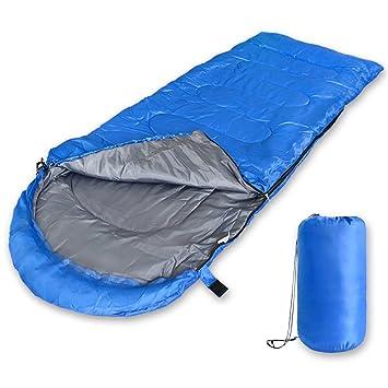 2win2buy Saco de Dormir para 3 Estaciones, Impermeable en Forma de Sobre Ligero Rectangular con