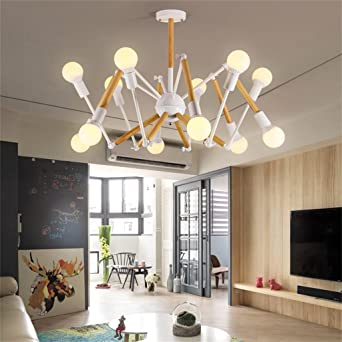 Lámparas de techo de madera creativa de estilo europeo ...