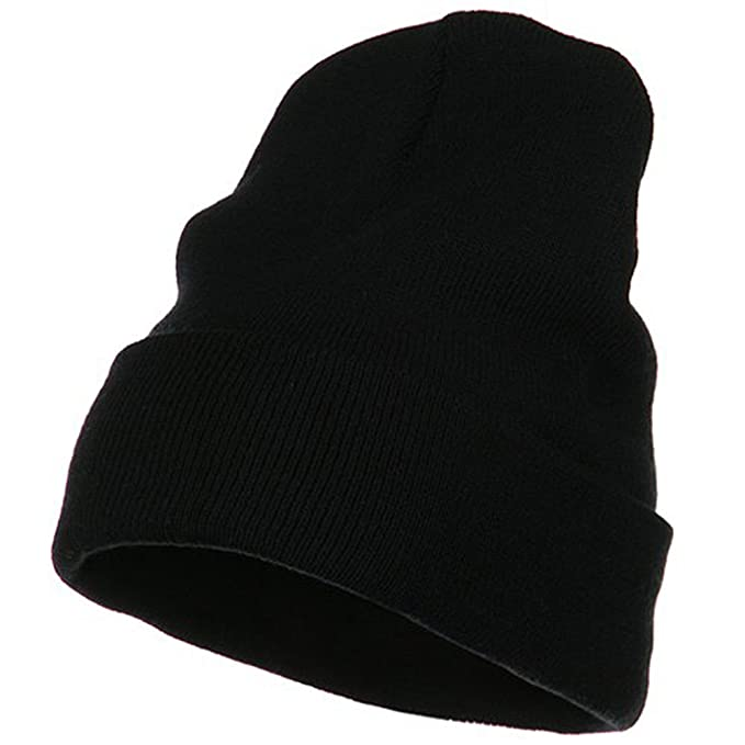 9d4f0bc8 Big Size Acrylic Long Beanies-Black (for Big Head) at Amazon Men's Clothing  store: Knit Caps