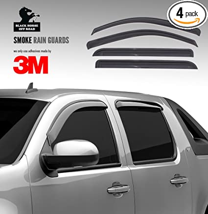 Rain Guards For Trucks >> Black Horse 140660 Smoke Rain Guard 4 Pack