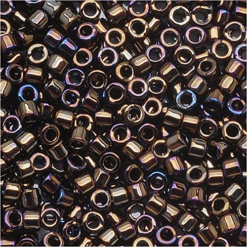 (Miyuki Delica Seed Beads 11/0 DB007 Brown Iris 7.2 Grams)