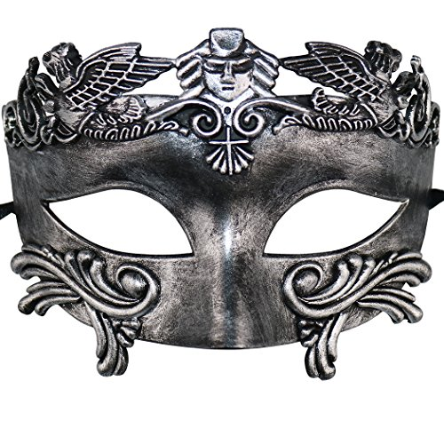 Mens Masquerade Mask Greek Roman Halloween Venetian Mardi Gras Party Mask -