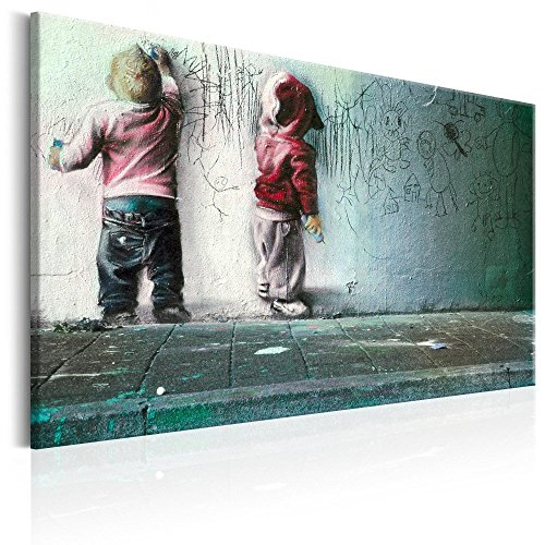 Canvas Art Design - Banksy Graffiti Street Art Canvas Print Abstract Wall Pictures for Living Room Bedroom Office Home Decor Decorations Artwork Large Painting (New Generation)