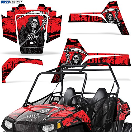 Polaris RZR170 UTV Graphic Kit Decal Sticker SxS Wrap Kids RZR 170 REAPER RED (170 Polaris Graphic Kits)