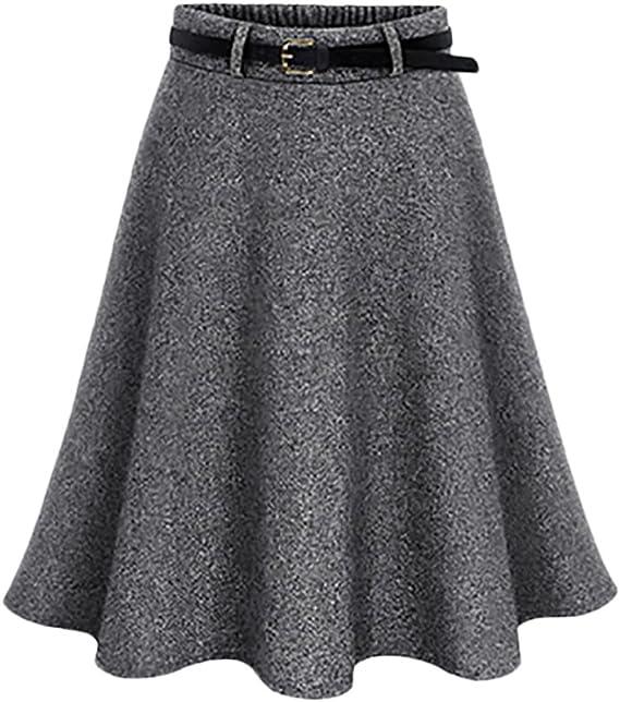 HaiDean Faldas Mujer Elegantes Moda Vintage Modernas Casual Una ...