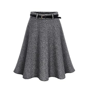 BOLAWOO Faldas Mujer Tallas Grandes Elegantes Hipster Moda Vintage ...