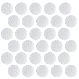 100 Pcs Microdermabrasion Cotton Filters Replacement 10 mm Dia Microdermabrasion Filters Facial Vacuum Filters Accesories Sponge Filter for Comedo Suction Microdermabrasion, White