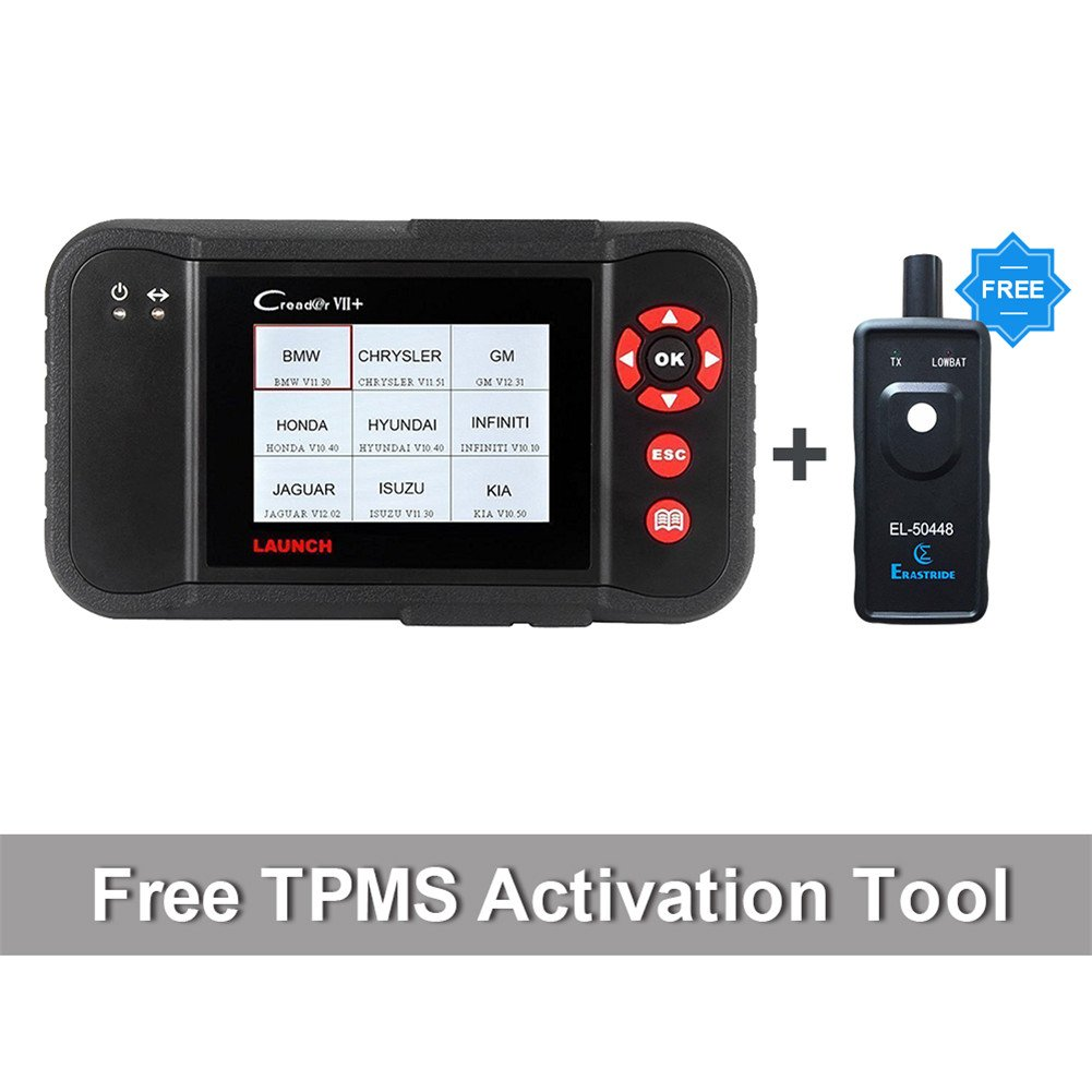 Launch X431 Creader VII+ ( CRP123) Auto Code Reader EOBD OBD2 Scanner Scan Tool Testing Engine/Transmission/ABS/ Airbag System + TPMS Activation Tool Gift