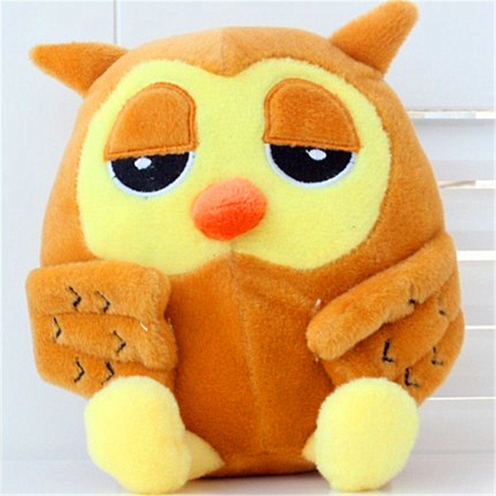 Amazon.com: giant plush stuffed animal toy-owl,8 long,red,blue,green and brown 4 colors available: Toys & Games