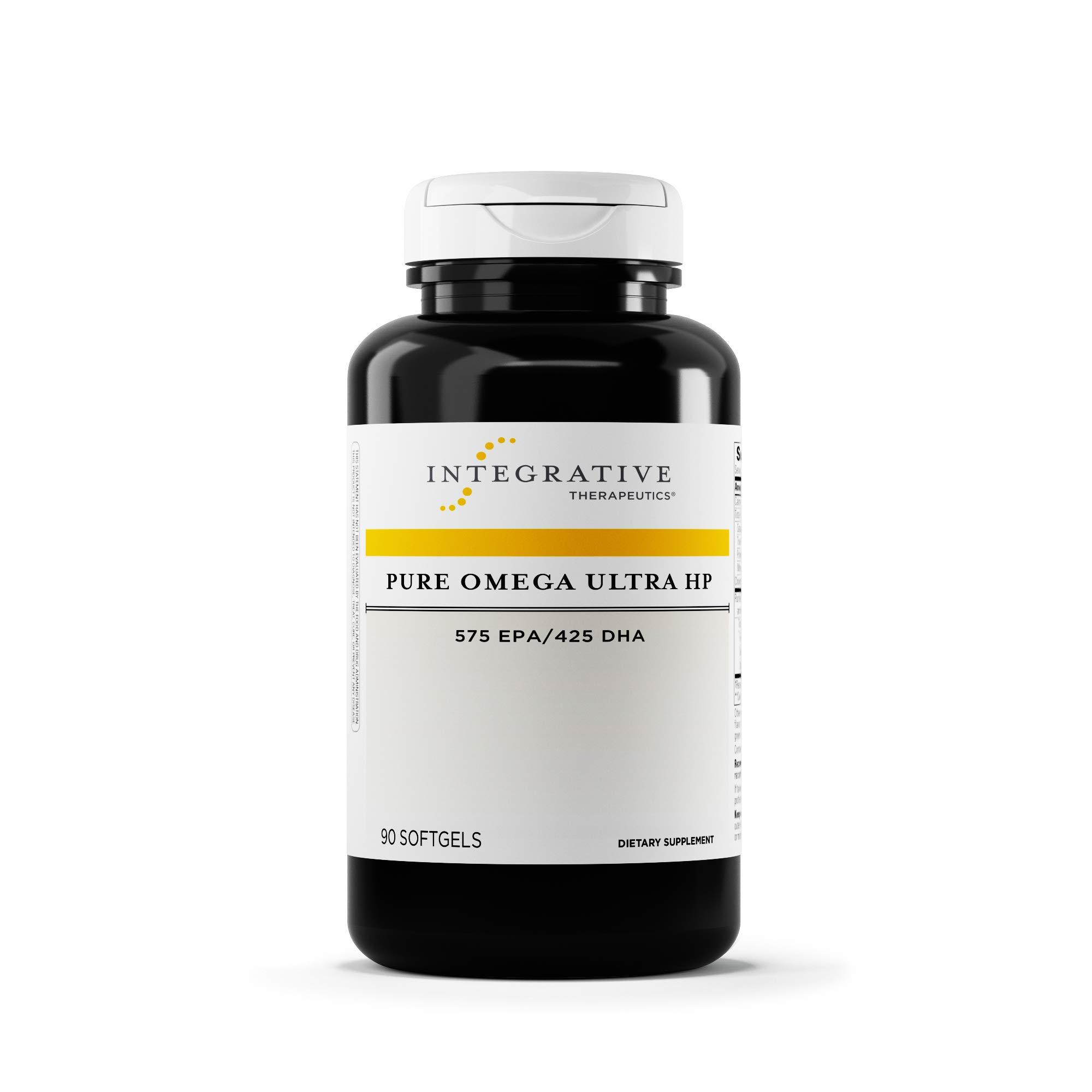Integrative Therapeutics - Pure Omega Ultra HP Fish Oil Softgels - 1085 mg Omega 3 Fatty Acids with EPA and DHA - Wild Fish Oil - No Fishy Burp Back - Sustainably Sourced - 90 Count by Integrative Therapeutics (Image #1)