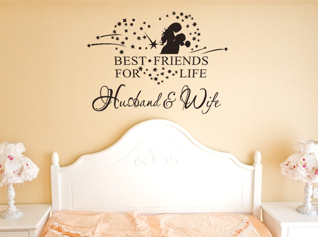 Buy Decals Design U0027Best Friend Husband And Wife Quoteu0027 Wall Sticker (PVC  Vinyl, 50 Cm X 70 Cm X 1 Cm, Black) Online At Low Prices In India    Amazon.in Part 61