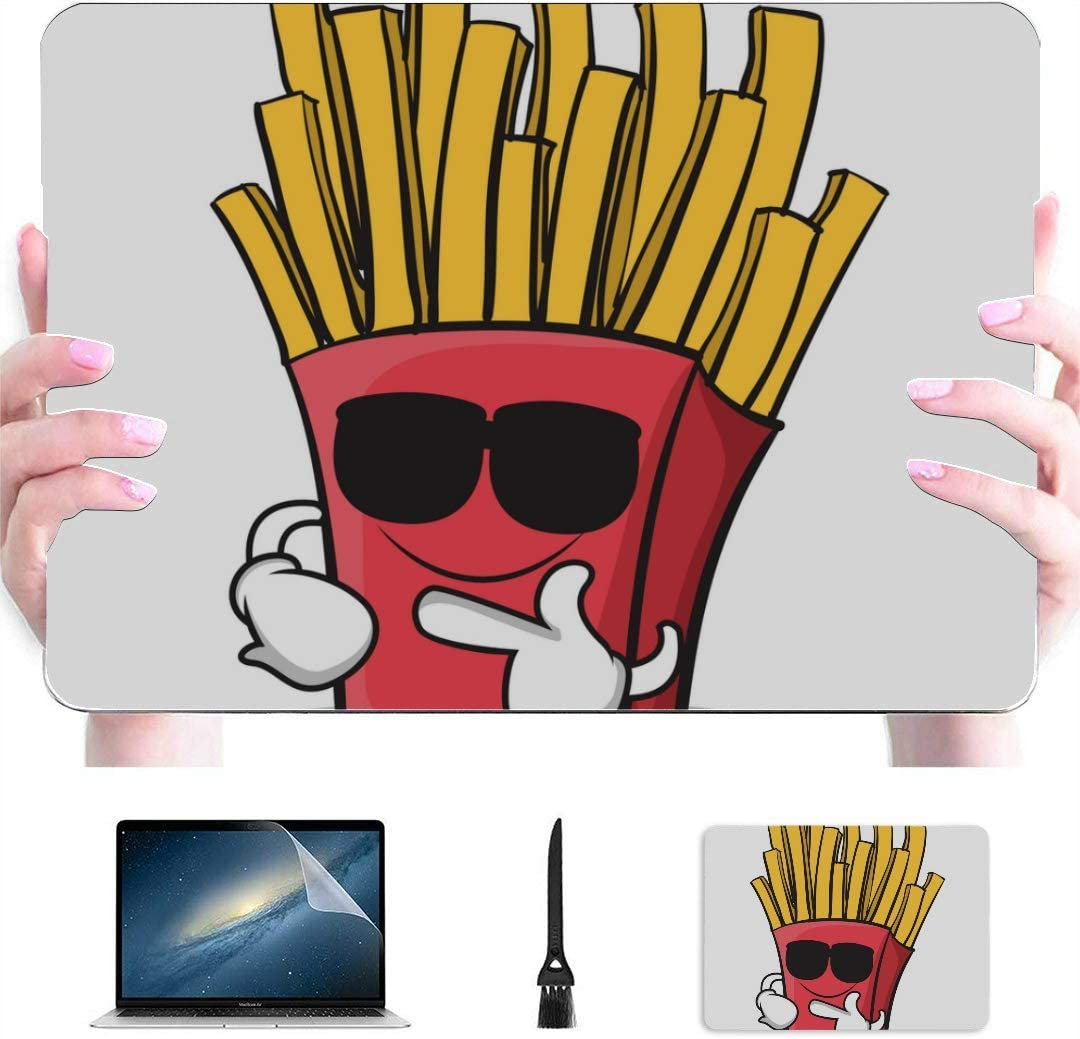 MacBook Air Computer Case Cartoon Fast Food French Fries Plastic Hard Shell Compatible Mac Air 13