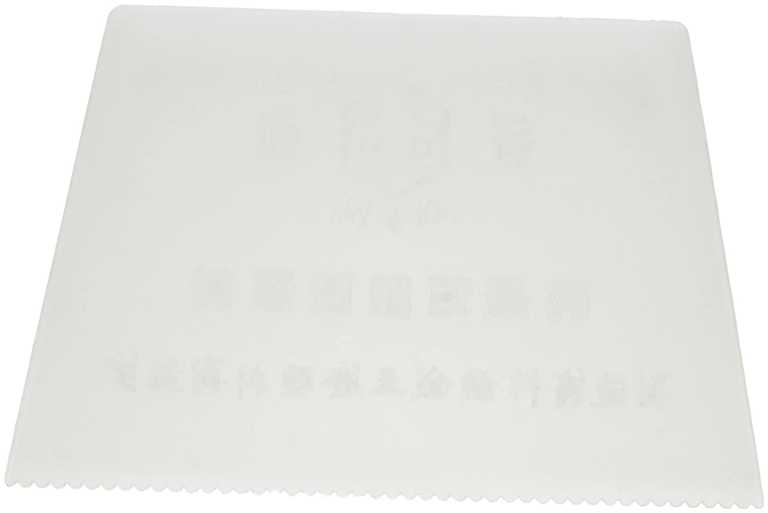 White Plastic Trapezoid Noched Paint Cake Decorator Scraper 5.1' Long Sourcingmap a14050800ux0648