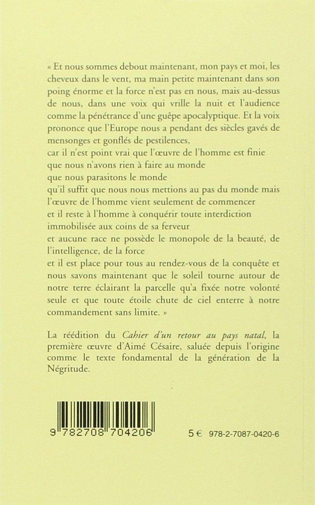 Le Cahier dun retour au pays natal dAimé Césaire (Pour comprendre) (French Edition)