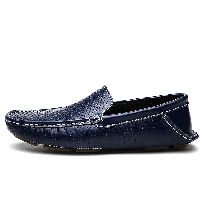 Shenn Hombre Respirable Conducción Coche Ponerse Comodidad Cuero Mocasines Zapatos 1717: Amazon.es: Zapatos y complementos