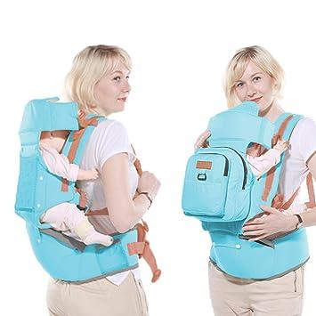Portabebé,Mochila Ergonómica De Algodón Portador De Bebé Recién Nacido Multifuncional Transpirable Ajustable: Amazon.es: Bebé