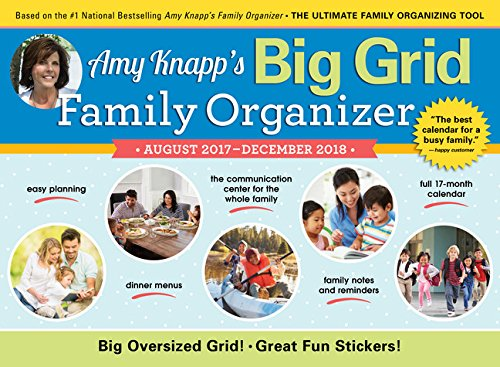2018 Amy Knapp Big Grid Wall Calendar: August 2017-December 2018