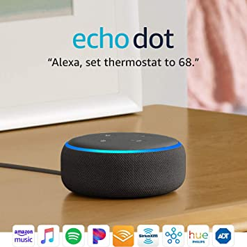 Echo Dot (3rd Gen) - Voice control your smart home with Alexa - Charcoal