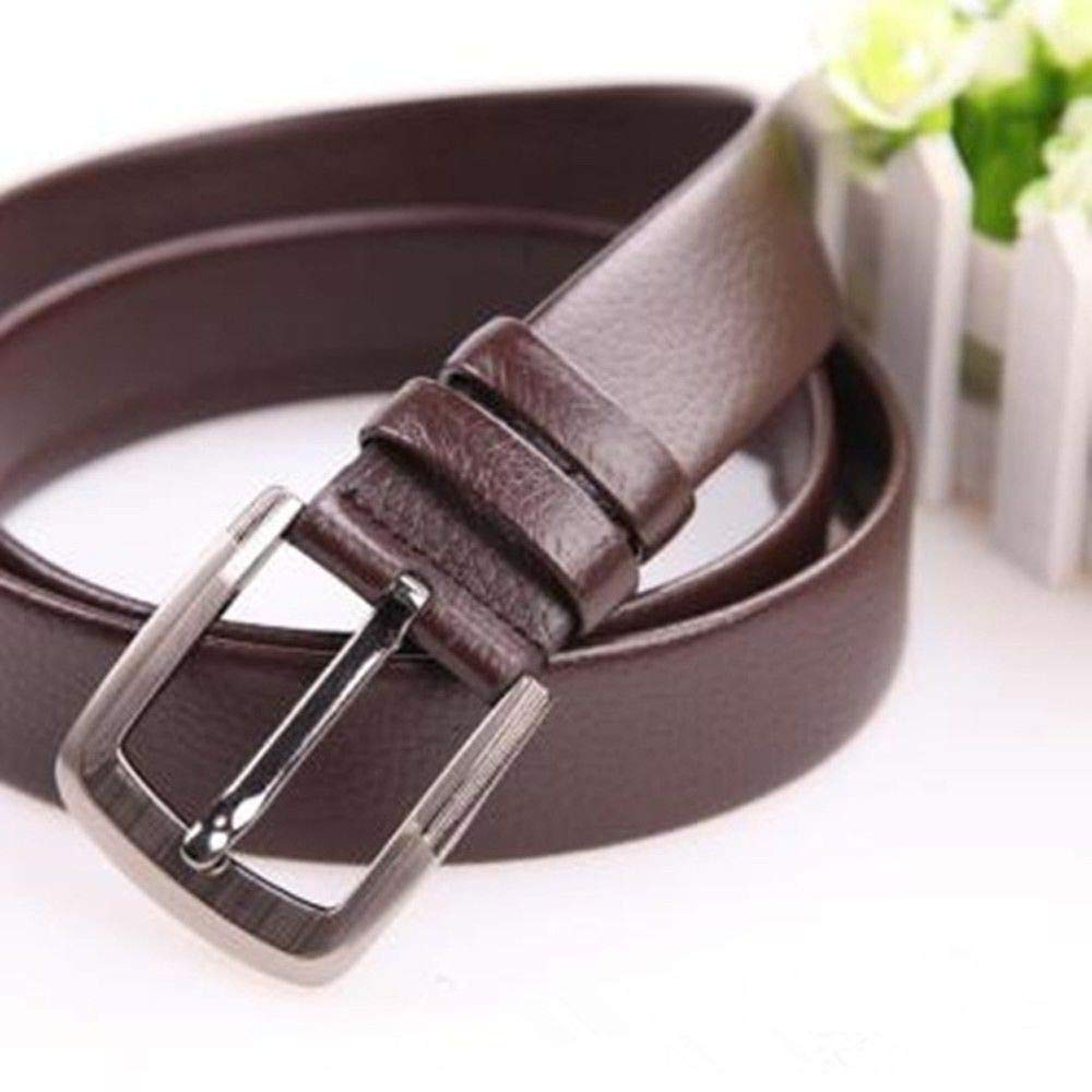 Edge-Wrapped Needle Buckle Belt Needle Buckle Belt Litchi Pattern Scrape-Proof Rcnry Mens Genuine Leather Belt