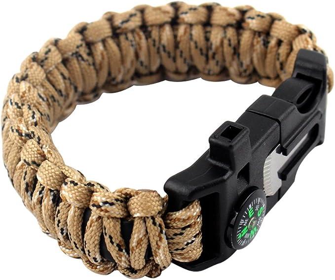 """Pack de 5 couleur or 3//8/"""" métal incurvée Top Boucle Pour Paracord Survival Bracelets"""
