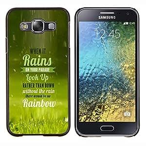 EJOOY---Cubierta de la caja de protección para la piel dura ** Samsung Galaxy E5 E500 ** --Cuando llueve TIPOGRAFÍA