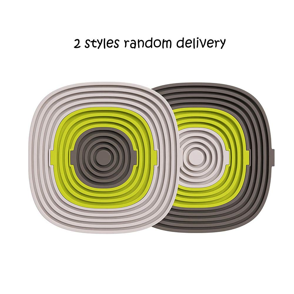 HeTeLe Multicolor Silicone Drink Coasters Set of 3 High Temperature Resistance Non Slip Silicone Hot Pads Mats Prevents Furniture and Tabletop Damages, Absorbs Spills and Condensation