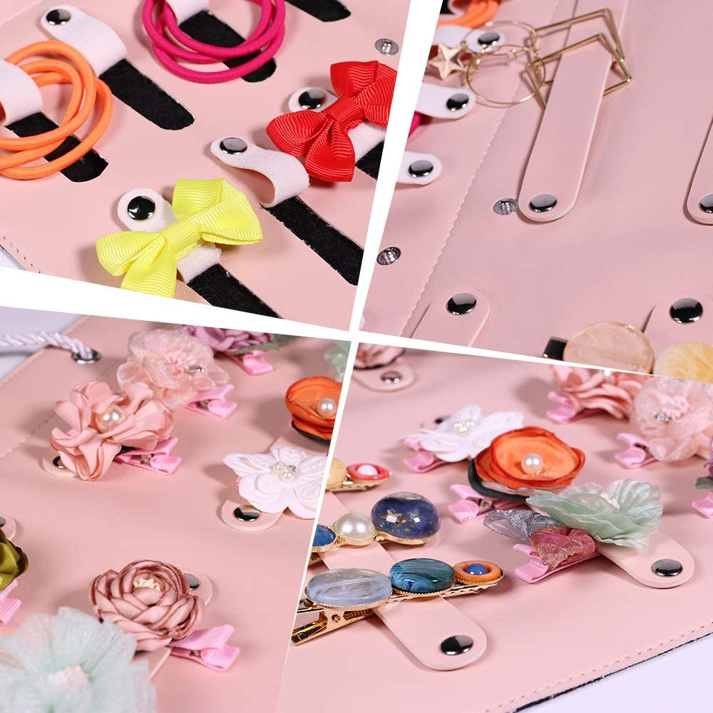 Subesty Baby Girl Headbands Storage Holder Newborn Baby Bows Hairband Headwrap Turban Hanging Organizer Display Stand Not Include Any Accessories