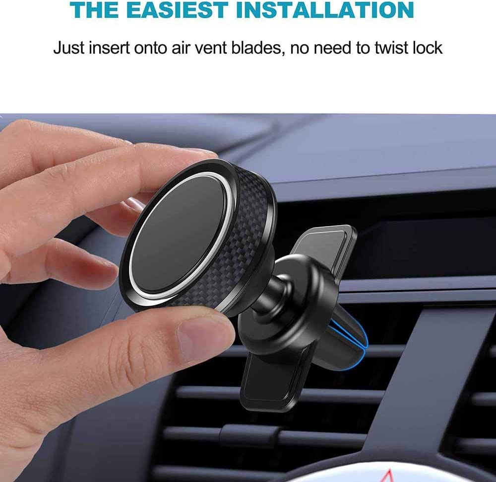 Google Pixel 3XL 360/°Rotation Air Vent Cell Phone Holder Universal Compatible iPhone 11 Pro Max//X//Xs//Xs Max//XR//8//7 Plus//6//5 iCaroad Magnetic Car Mount Oneplus 7 Pro Galaxy Note 10//S10+//S9//S8 LG