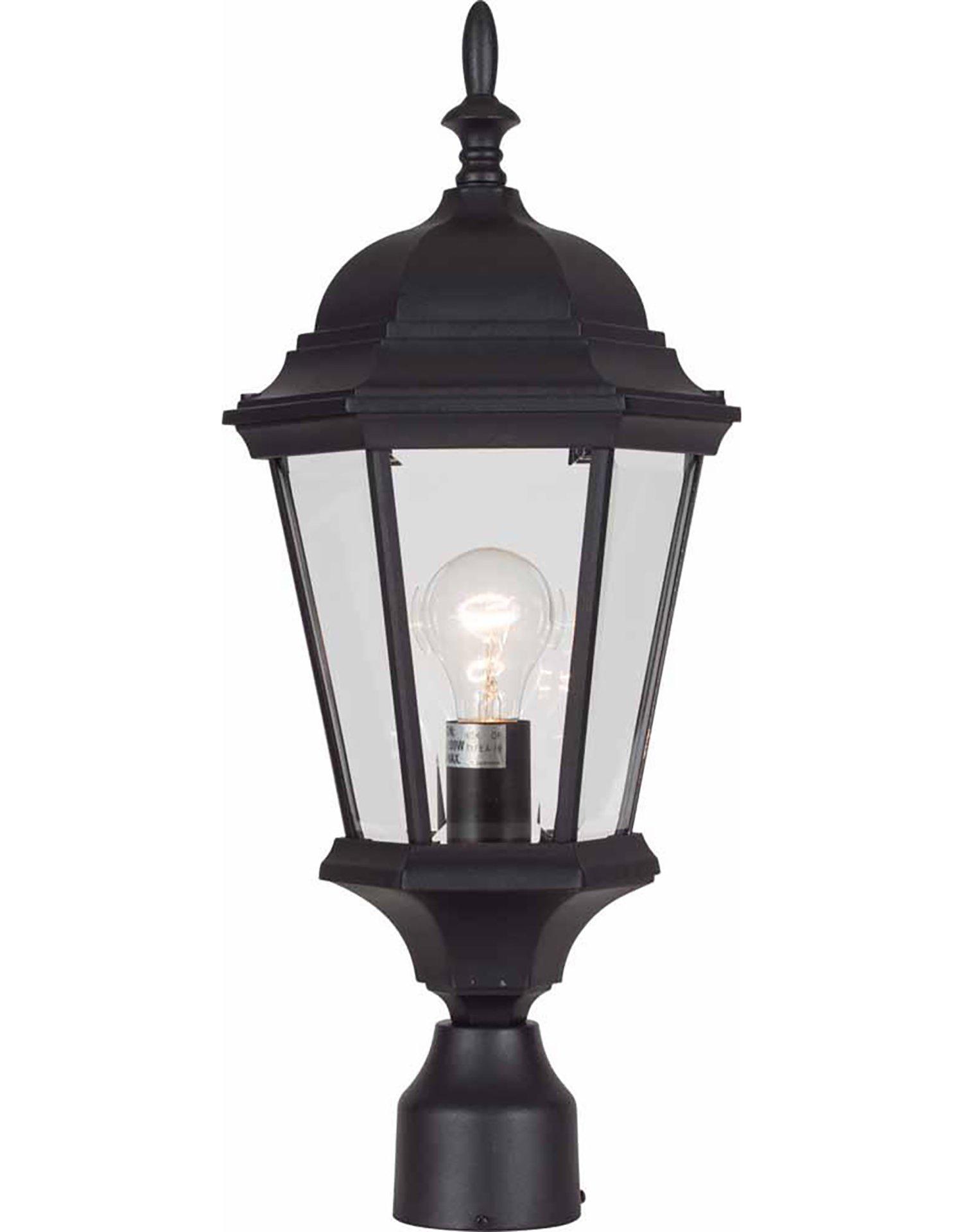 Volume Lighting V8226-5 1-Light Outdoor Post Mount, Black