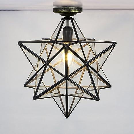 Lámpara de techo retro estrella forma diseño vintage ...