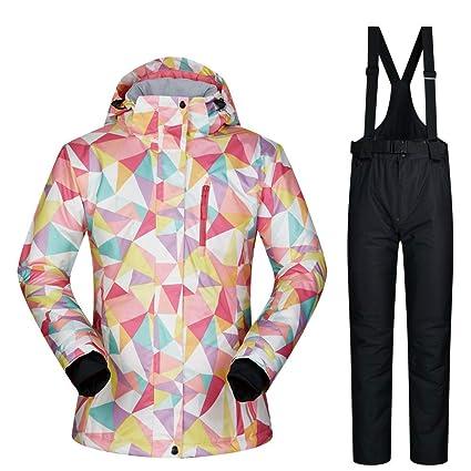 De Esquí Impermeable Chaqueta Chaqueta y pantalones de esquí para mujer Alta a prueba de viento