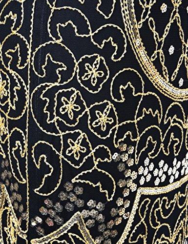 Kayamiya Womens Vintage 20s Art Deco Inspired Flapper Great Gatsby Fringe Dress