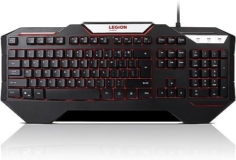 لوحة مفاتيح ألعاب ليجون K200 بإضاءة خلفية - لغة إنجليزية الولايات المتحدة أسود