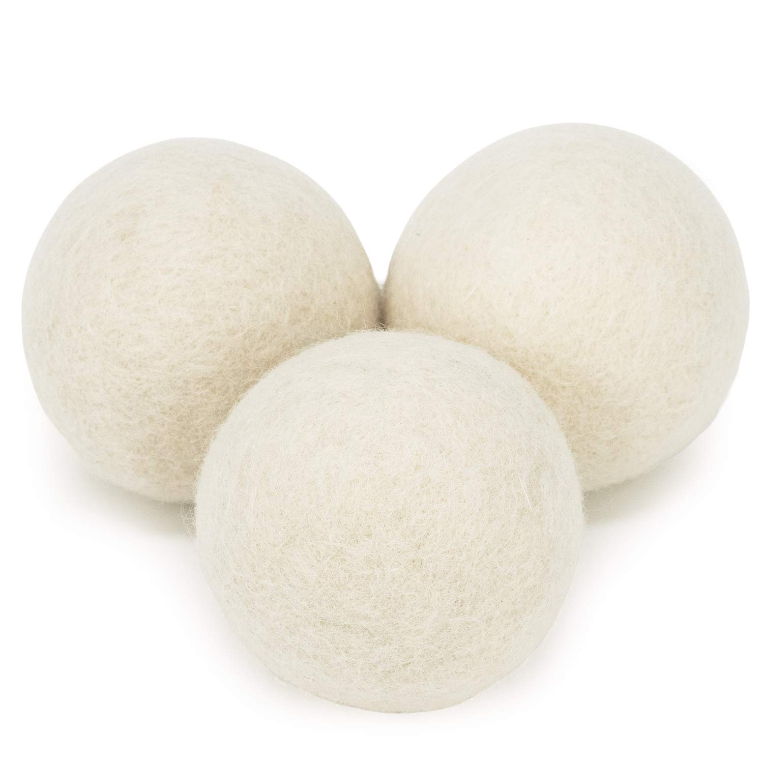Cosy House Collection Wool Dryer Balls - Natural Fabric Softener Reusable & Eco-Friendly - Reduce Wrinkles, Lint & Drying Times - Makes Laundry Snuggle Soft (3 Pack) Set