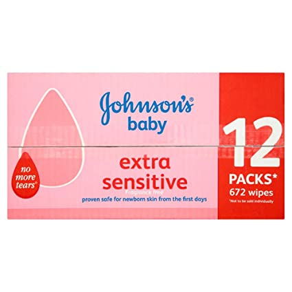 Johnsons Baby Toallitas Húmedas, 12 Packs x 56 toallitas - 672 toallitas: Amazon.es: Salud y cuidado personal